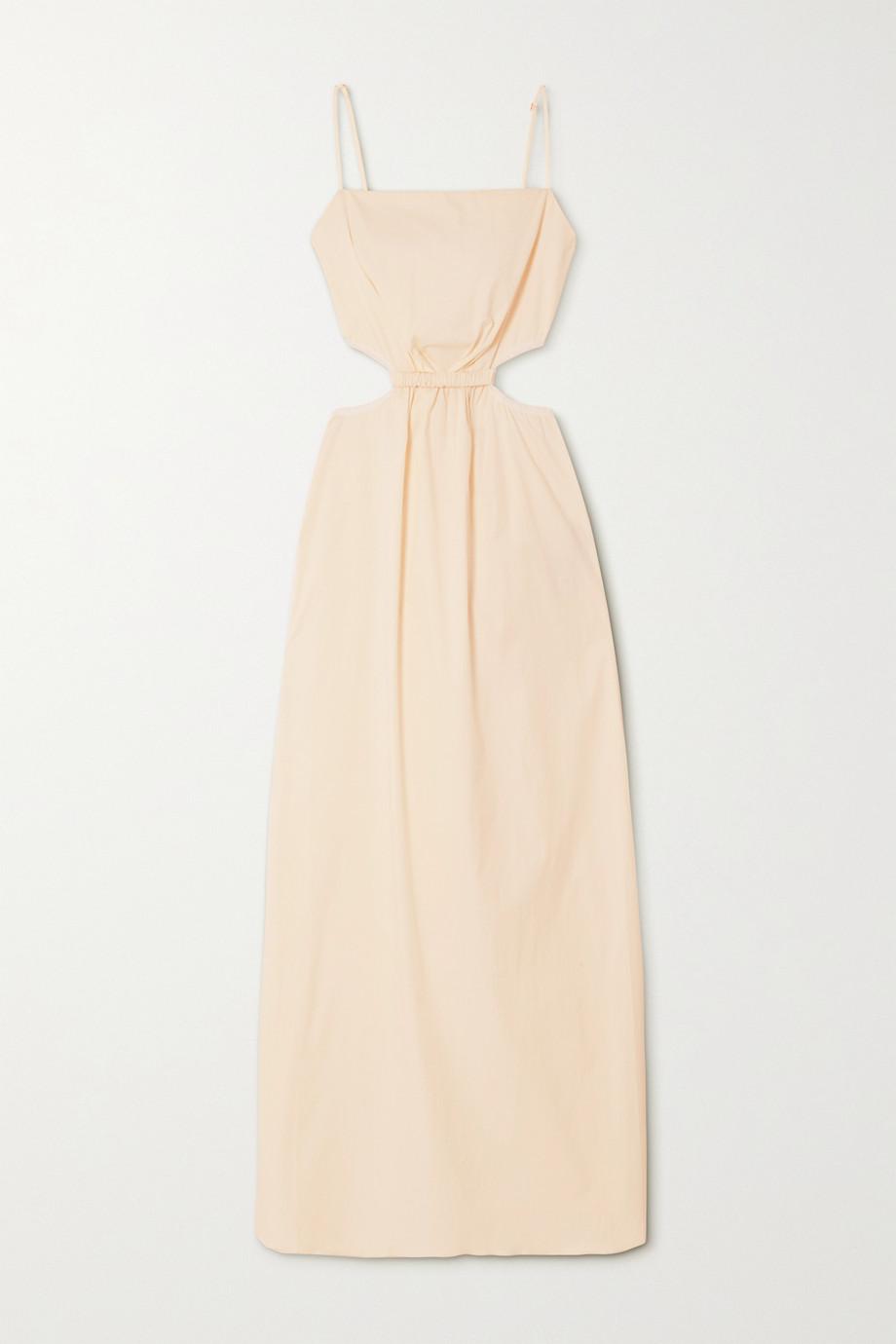 Johanna Ortiz White Sand cutout cotton-blend maxi dress