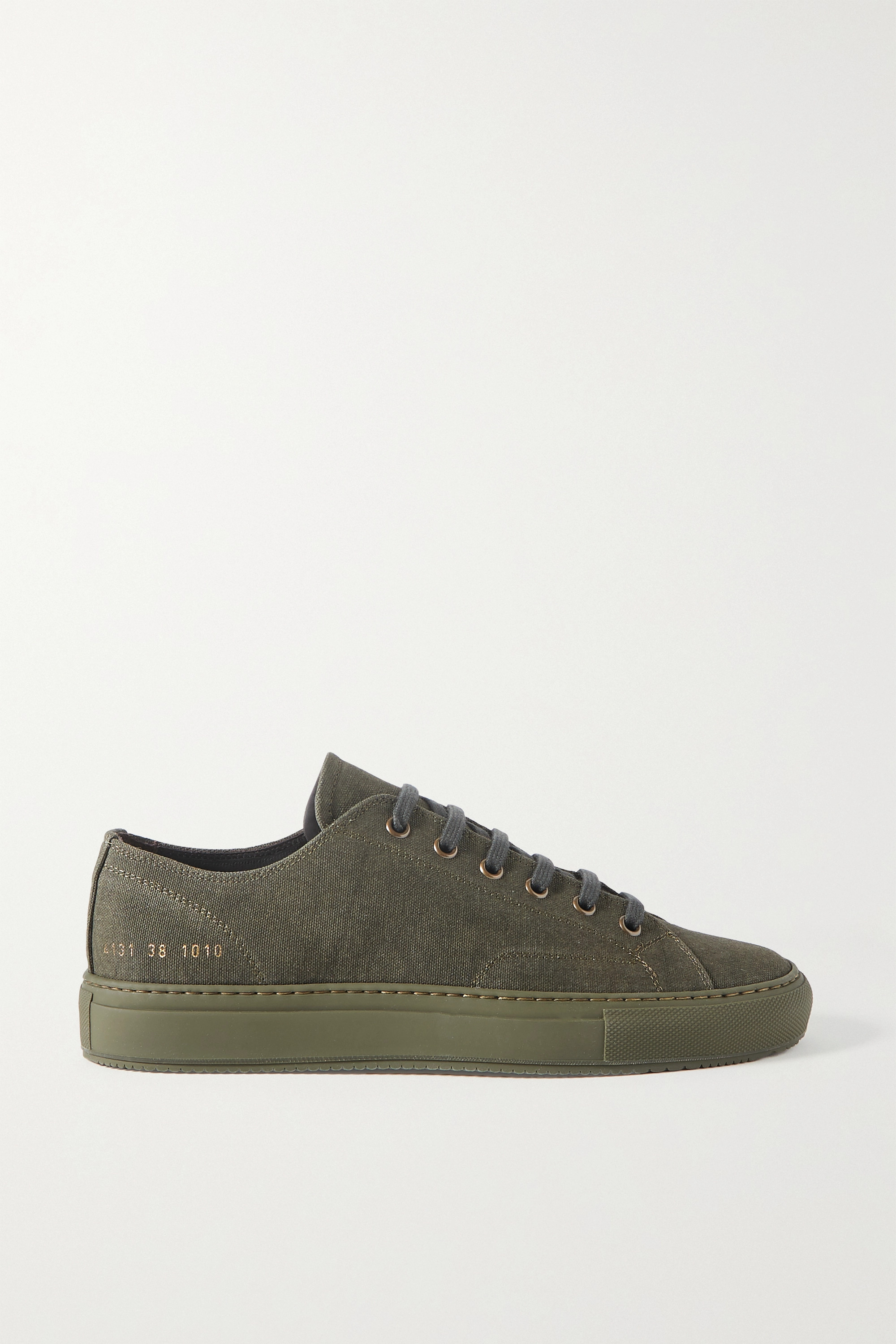 Army Green Achilles Canvas Sneakers | Common Projects