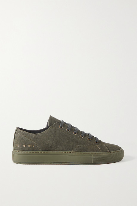 Army green Achilles canvas sneakers | Common Projects T0aiht