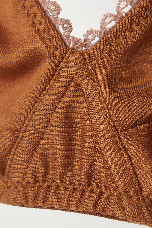Araks + NET SUSTAIN Antonia organic cotton-jersey soft-cup bra
