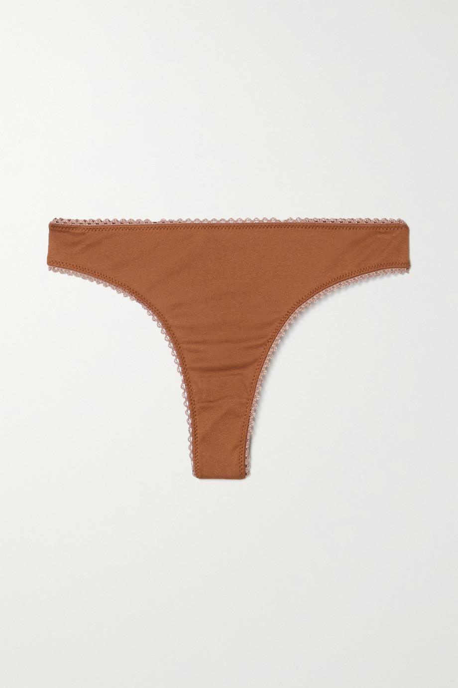 Araks + NET SUSTAIN Stella organic cotton-jersey thong