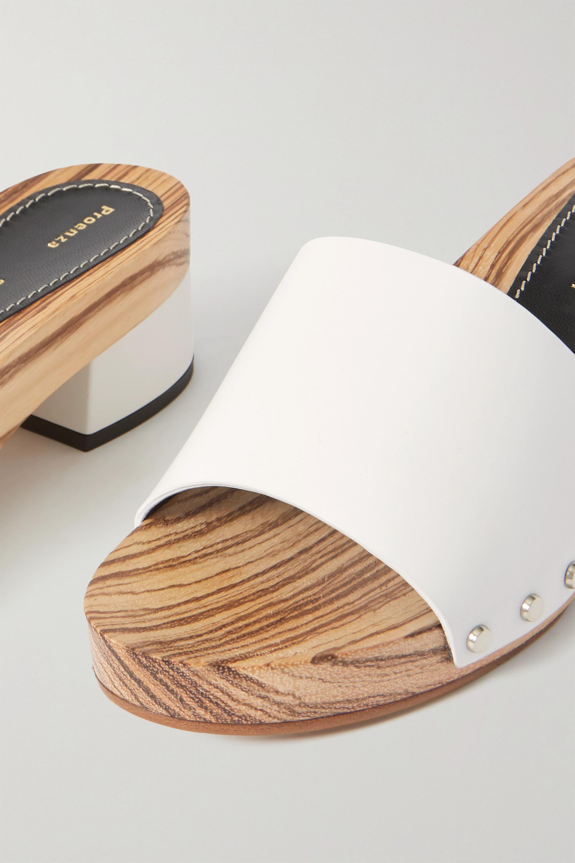 Proenza Schouler Leather platform mules