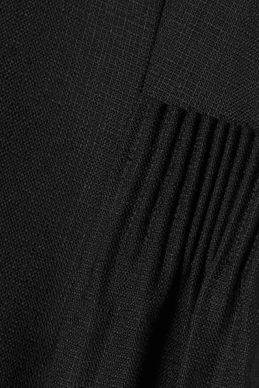 Adam Lippes Robe midi asymétrique en toile à fronces