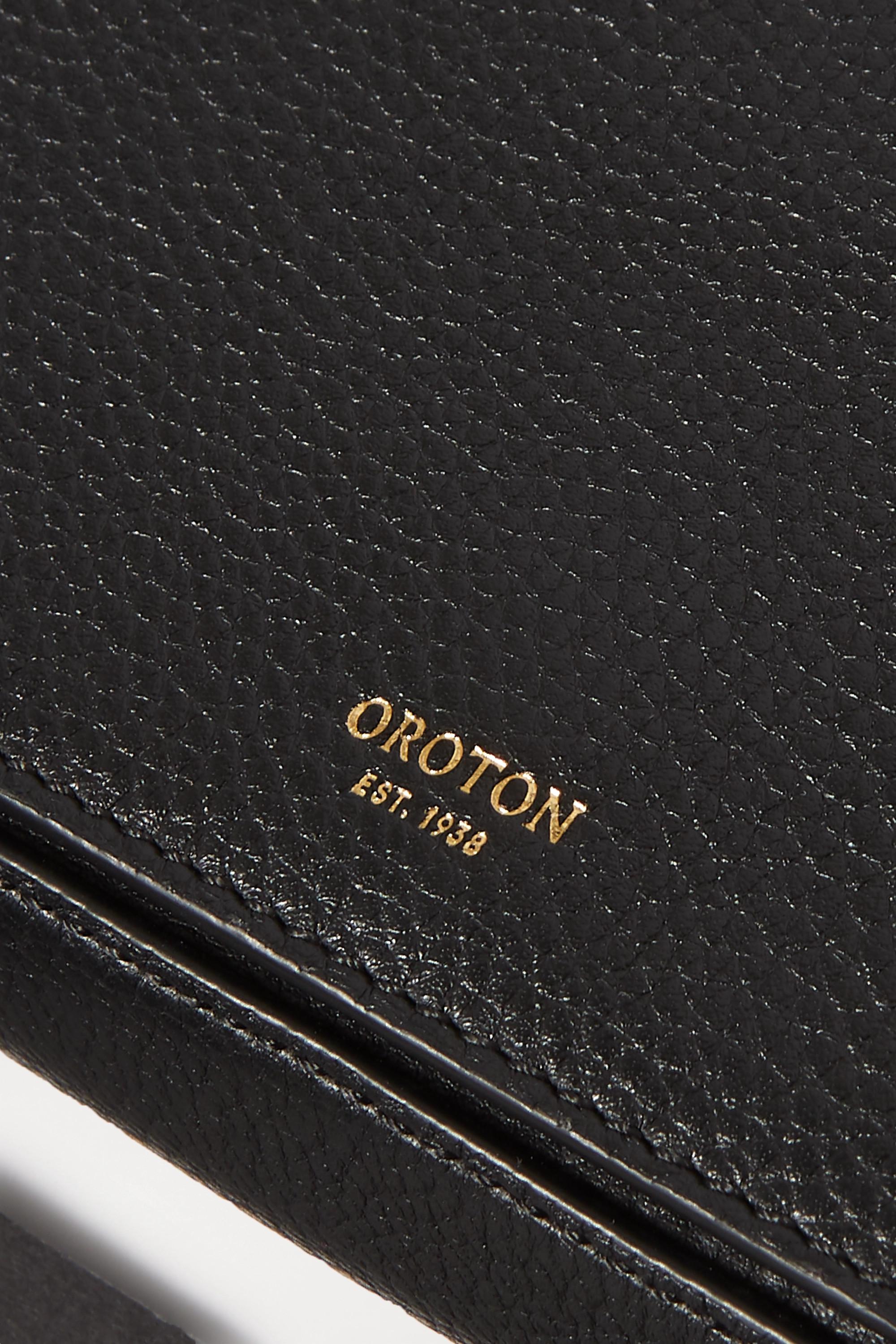Oroton Anouk Schultertasche aus strukturiertem Leder