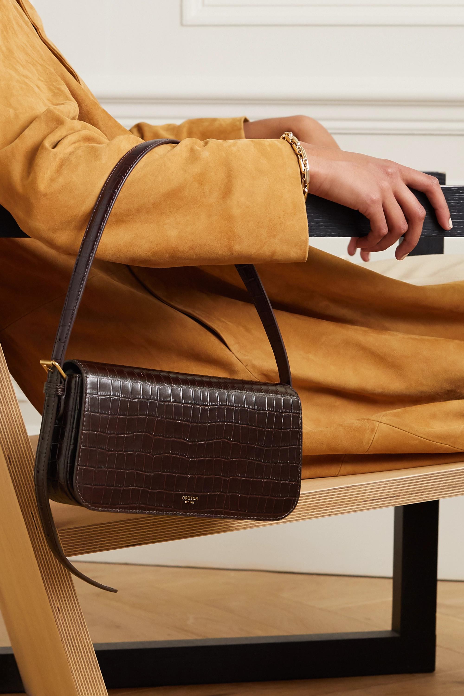 Oroton Muse croc-effect leather shoulder bag