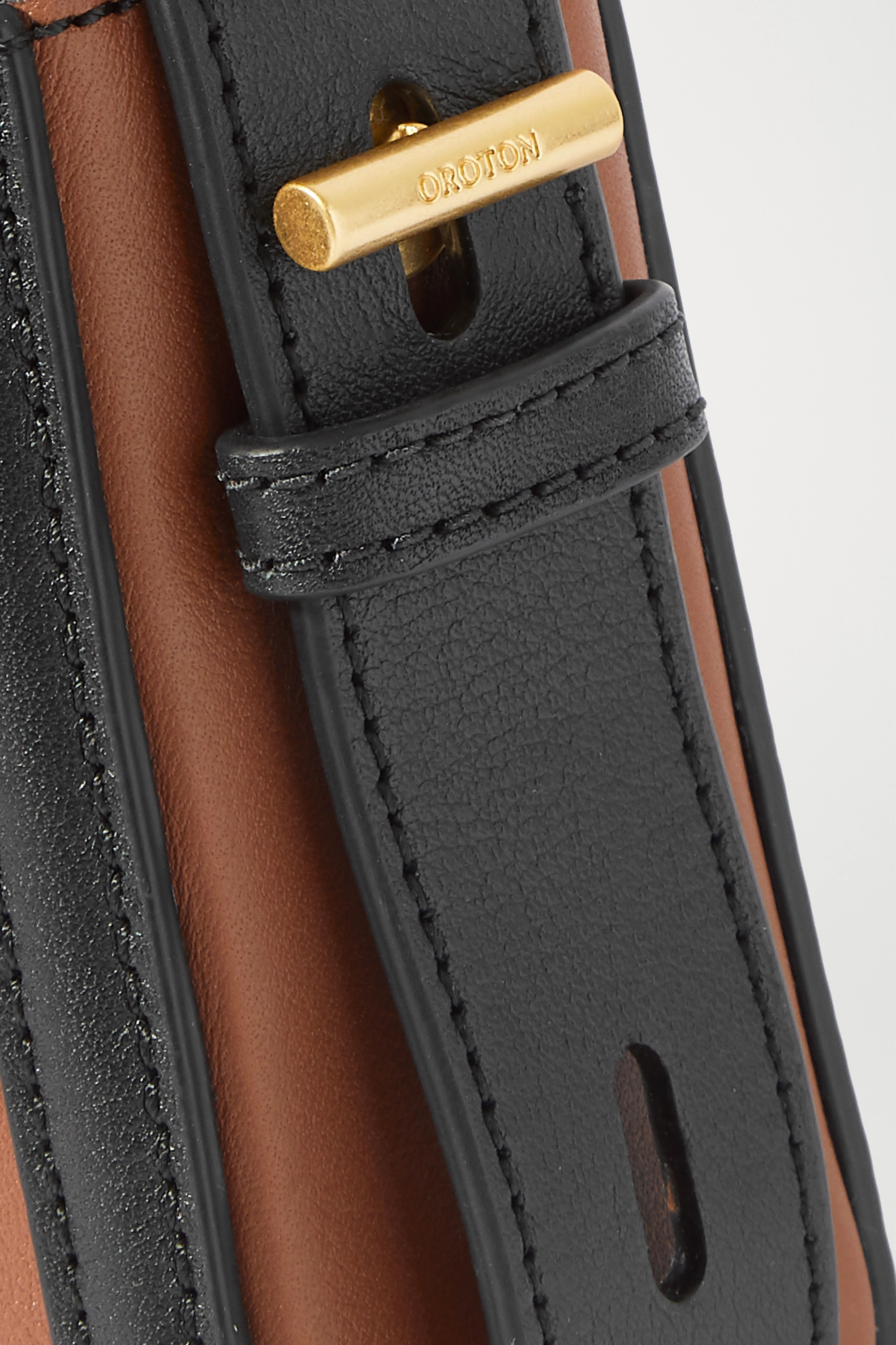 Oroton Camille two-tone leather shoulder bag