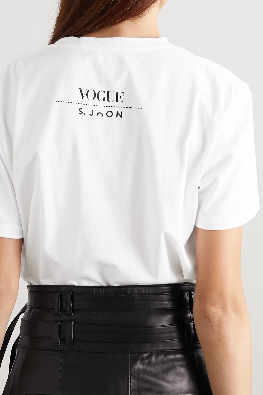S.Joon + VOGUE printed organic cotton-jersey T-shirt