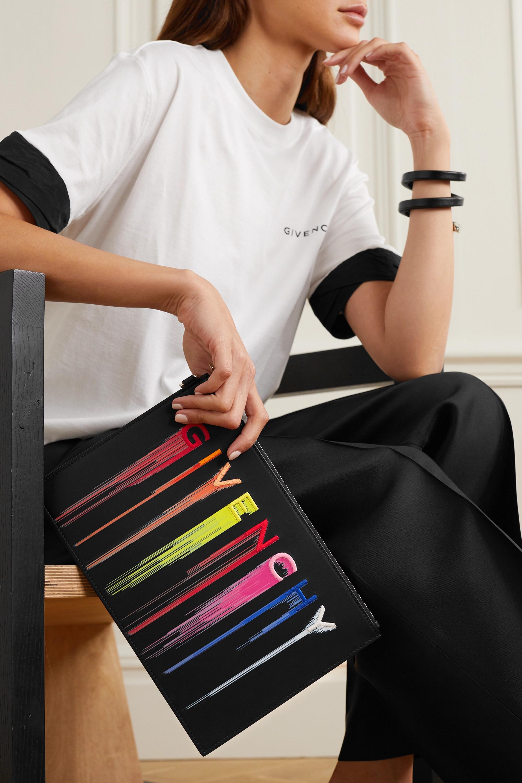 Givenchy Beutel aus Leder mit Stickerei und Print