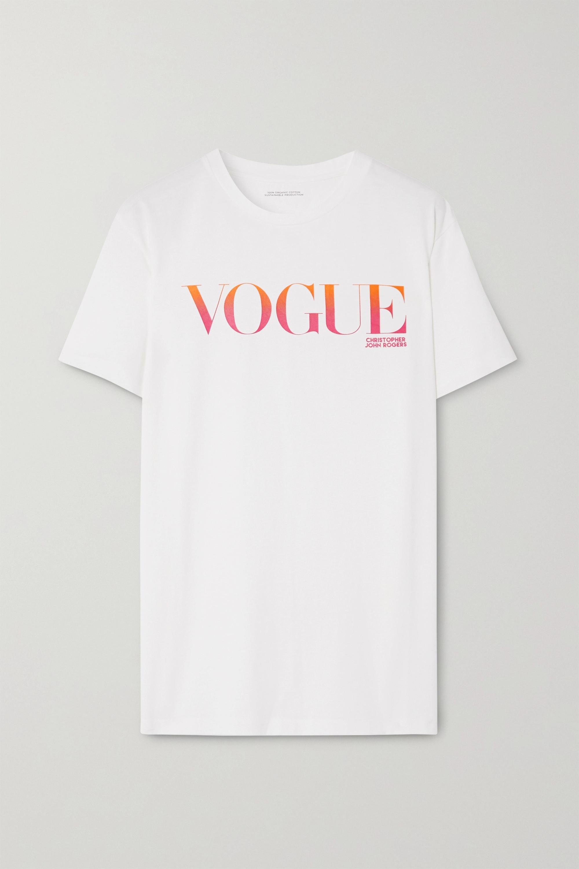 Christopher John Rogers + VOGUE printed organic cotton-jersey T-shirt