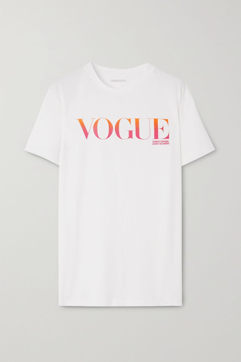Christopher John Rogers + VOGUE printed organic cotton-jersey T-shirt