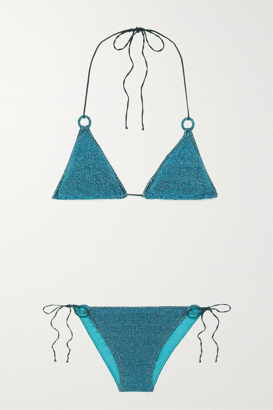 Oséree Stretch-Lurex triangle bikini