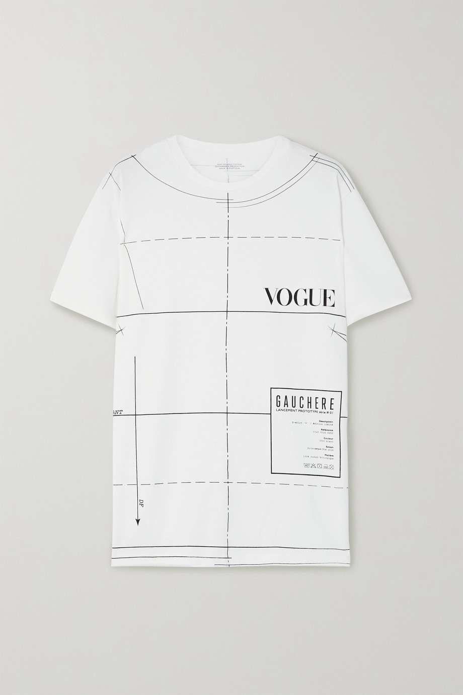 GAUCHERE + VOGUE printed organic cotton-jersey T-shirt