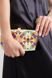 13BC Kaleidoscope gold-tone and enamel clutch