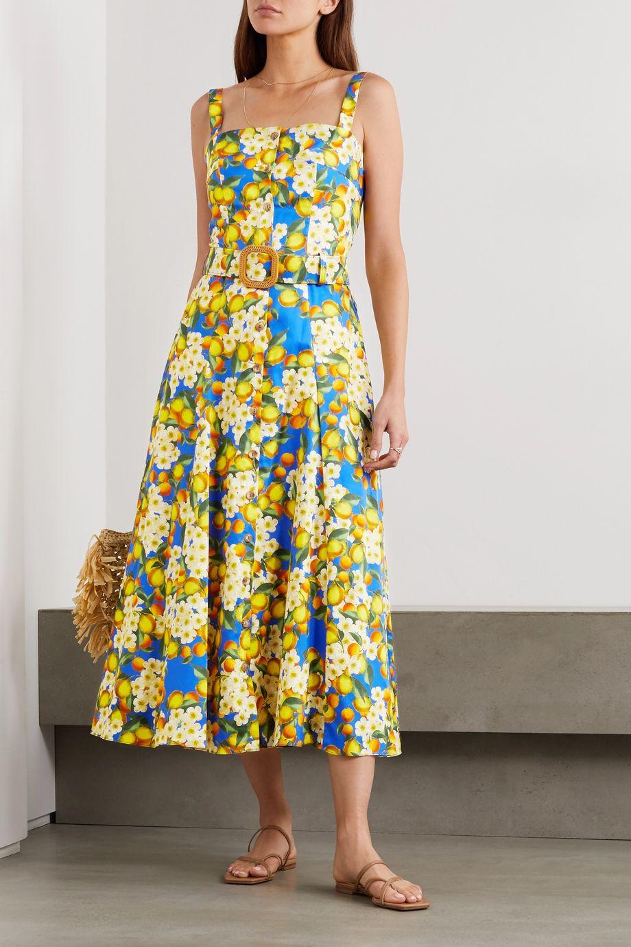 Borgo de Nor Camilla printed cotton-poplin maxi dress