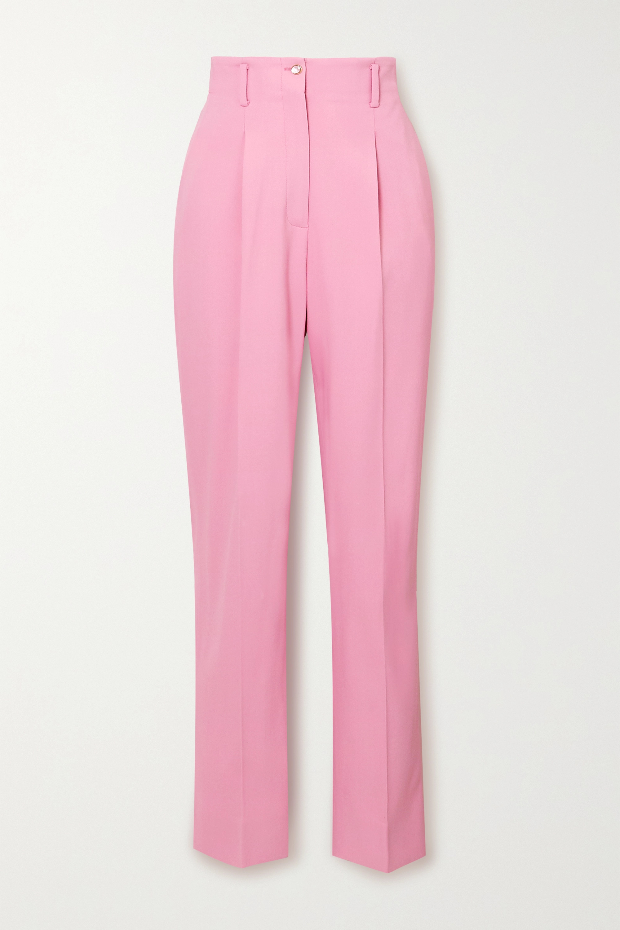 Temperley London Marlene pleated twill tapered pants