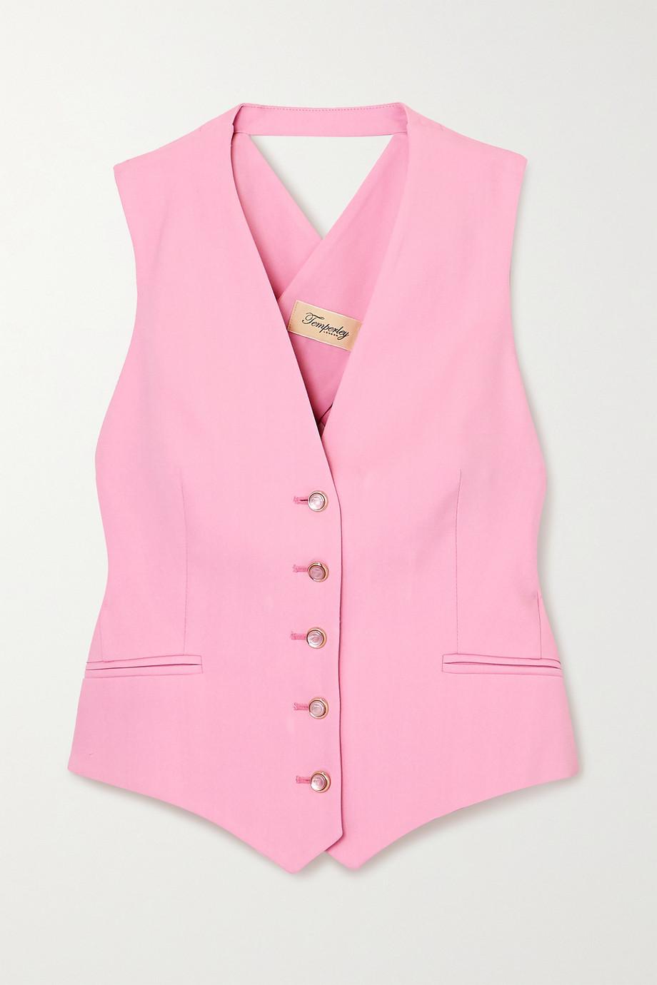 Temperley London Marlene open-back grain de poudre vest