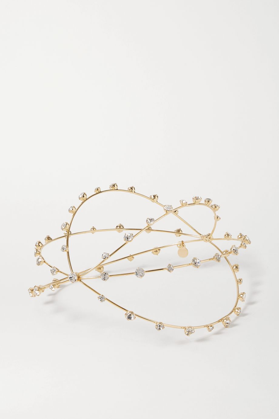 LELET NY Gold-tone crystal headpiece