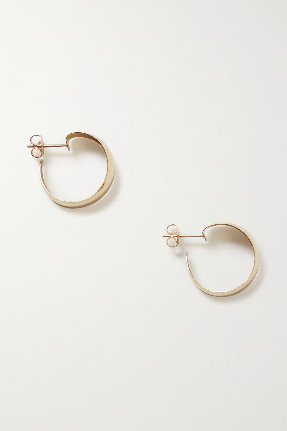 Loren Stewart + NET SUSTAIN Baby Dome gold hoop earrings