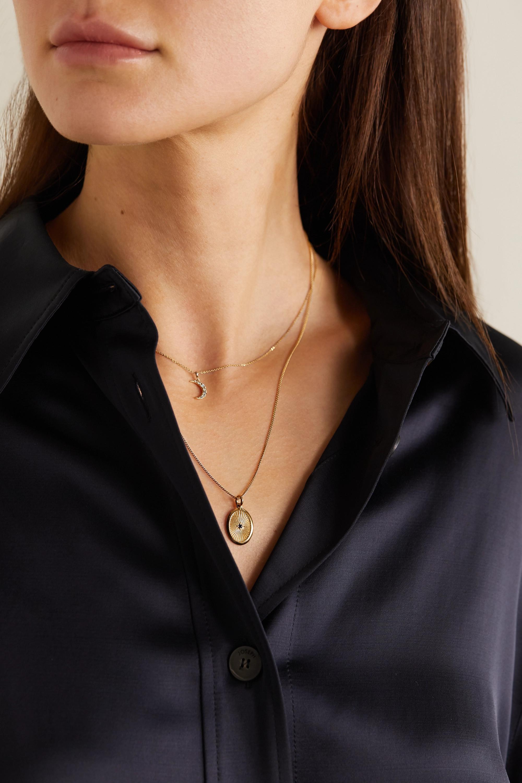 Loren Stewart + NET SUSTAIN 14-karat gold diamond necklace