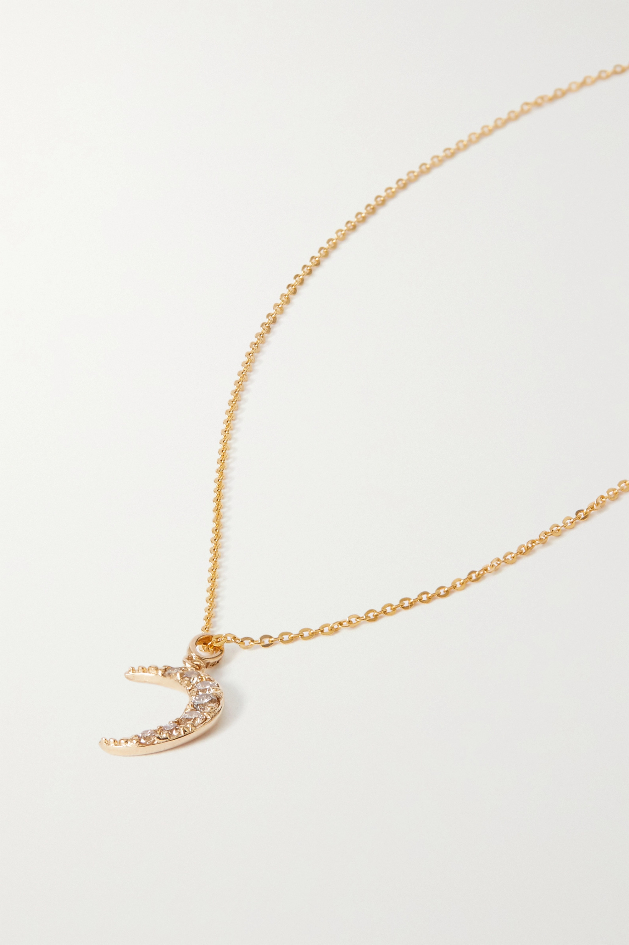 Loren Stewart + NET SUSTAIN 14-karat gold diamond necklace
