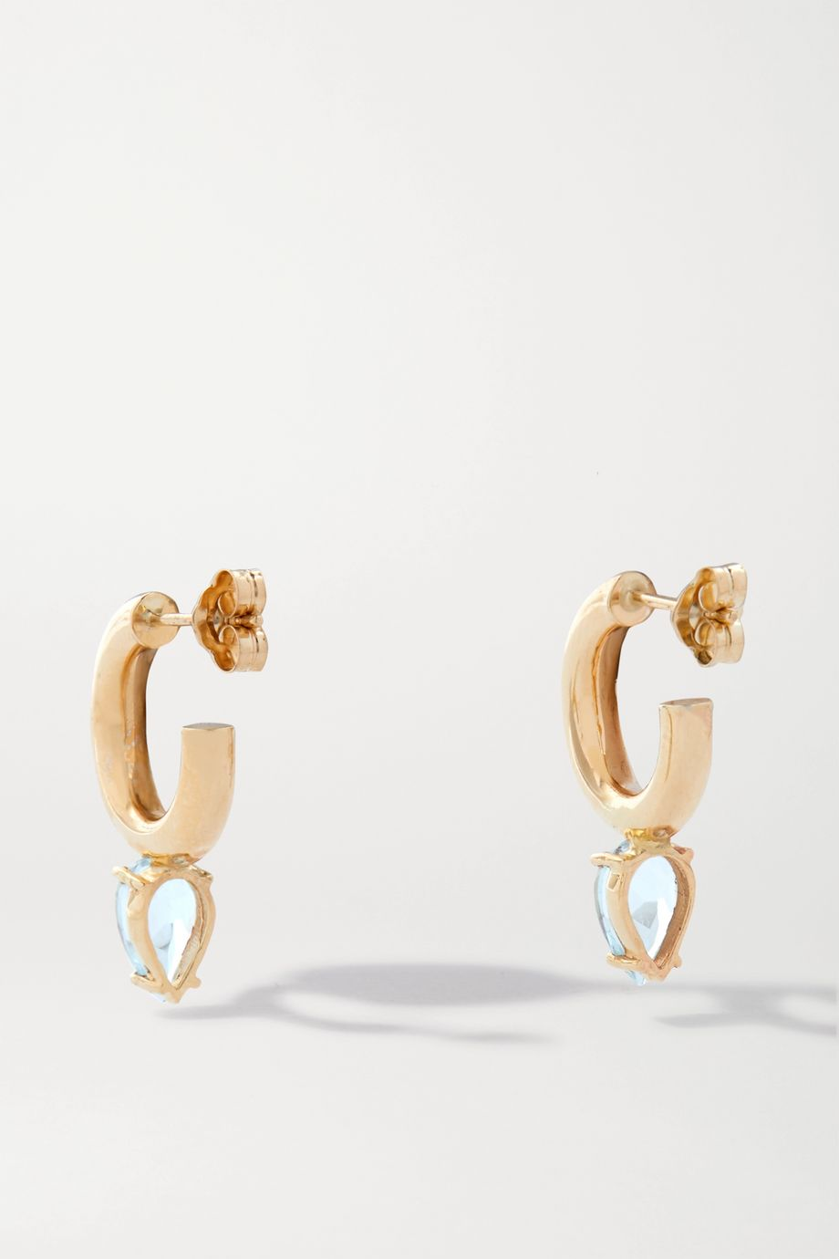 Loren Stewart Fantasia gold topaz hoop earrings