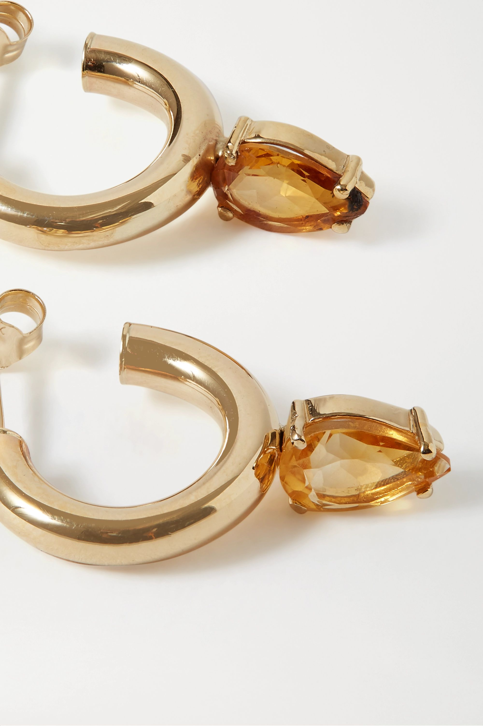 Loren Stewart + NET SUSTAIN Fantasia gold citrine hoop earrings