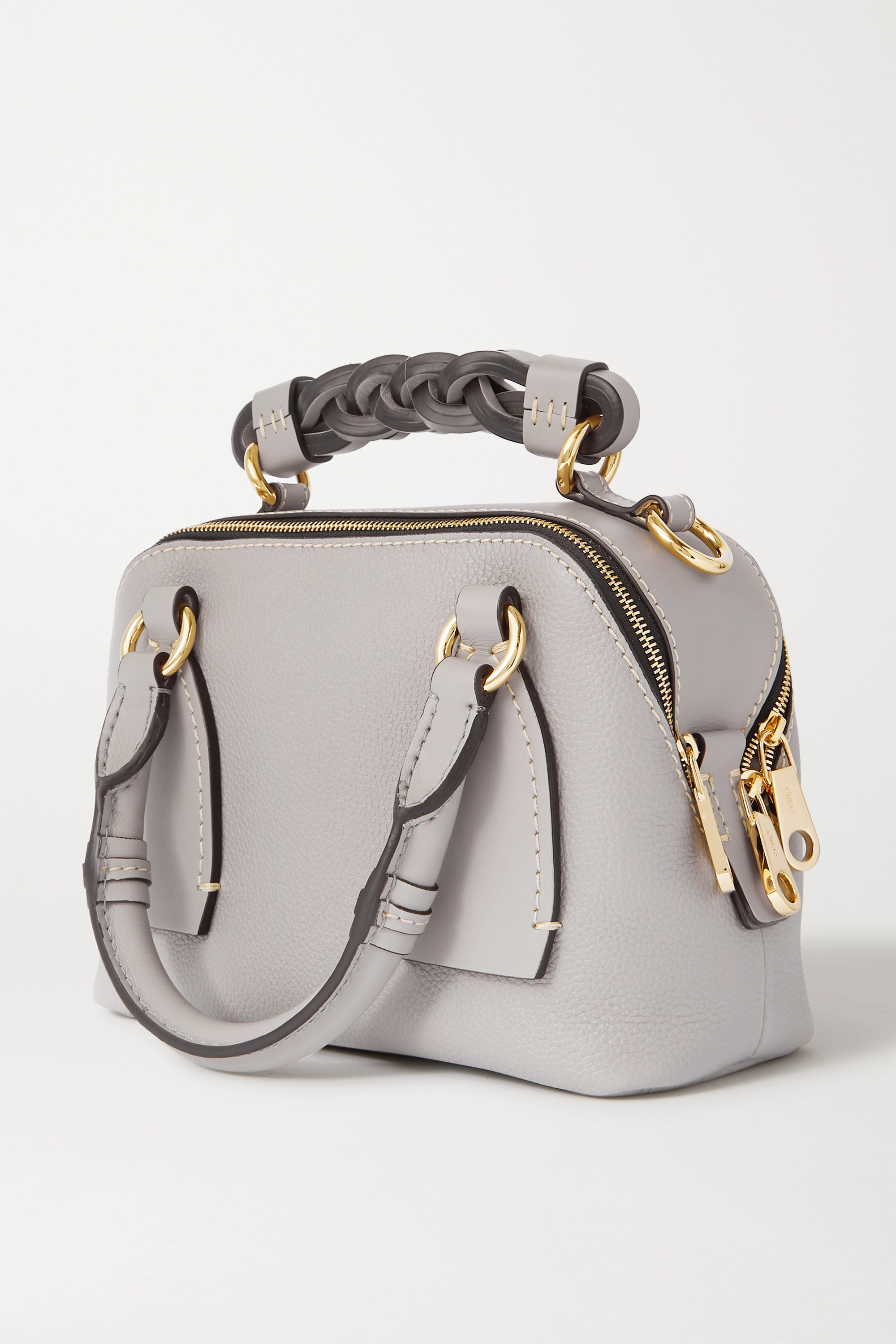 Chloé Daria small smooth and textured-leather tote