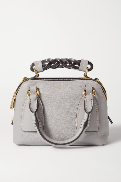 Chloé - Daria Small Smooth And Textured-leather Tote