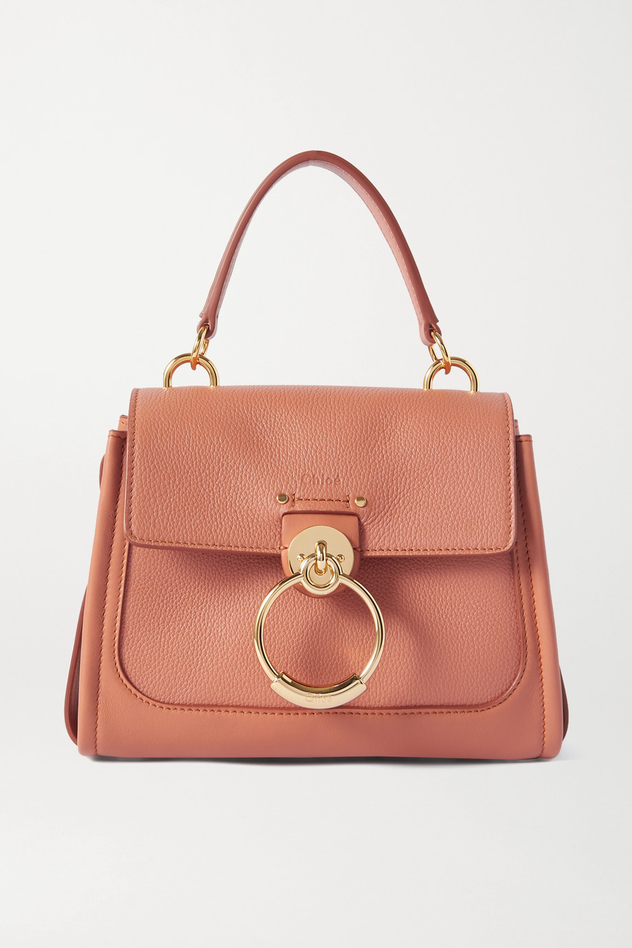 Chloé Tess Day mini textured and smooth leather shoulder bag