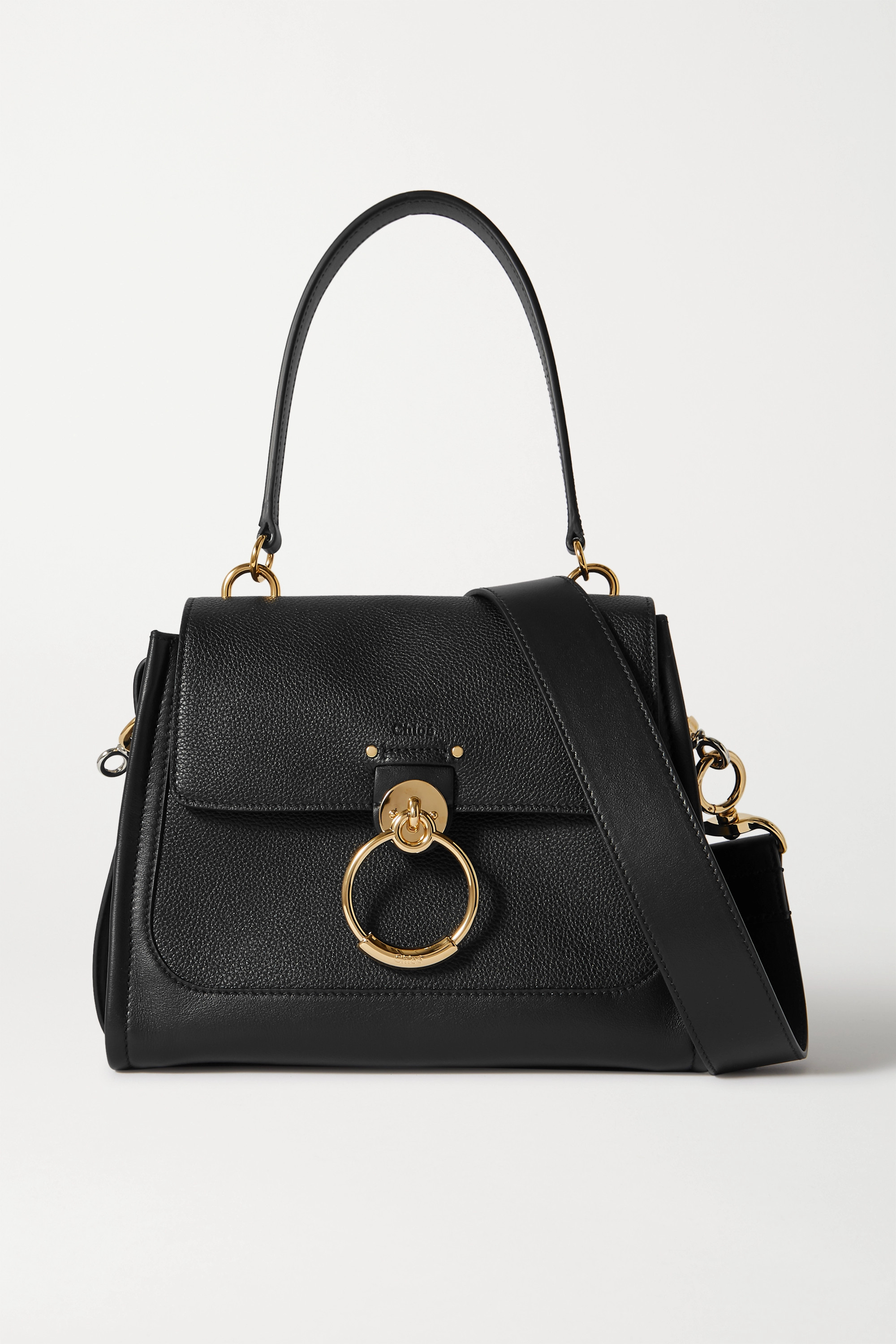 Chloé Tess Day small smooth and textured-leather shoulder bag