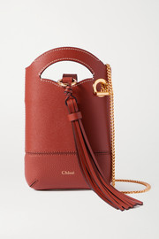 Chloé Walden tasseled suede and leather shoulder bag