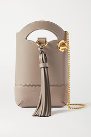 Chloé Walden smooth and textured-leather shoulder bag