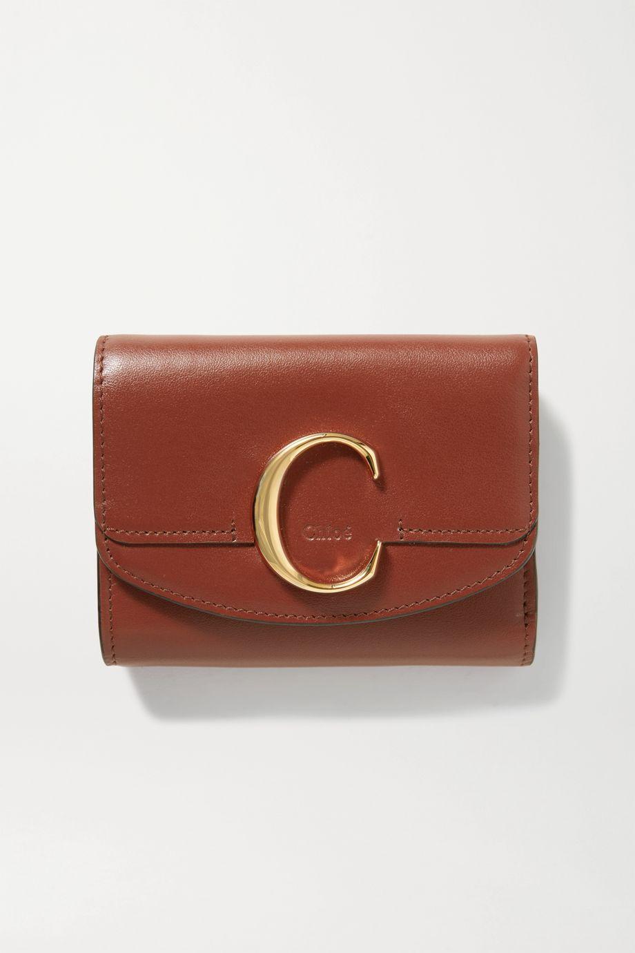Chloé Chloé C Portemonnaie aus Leder