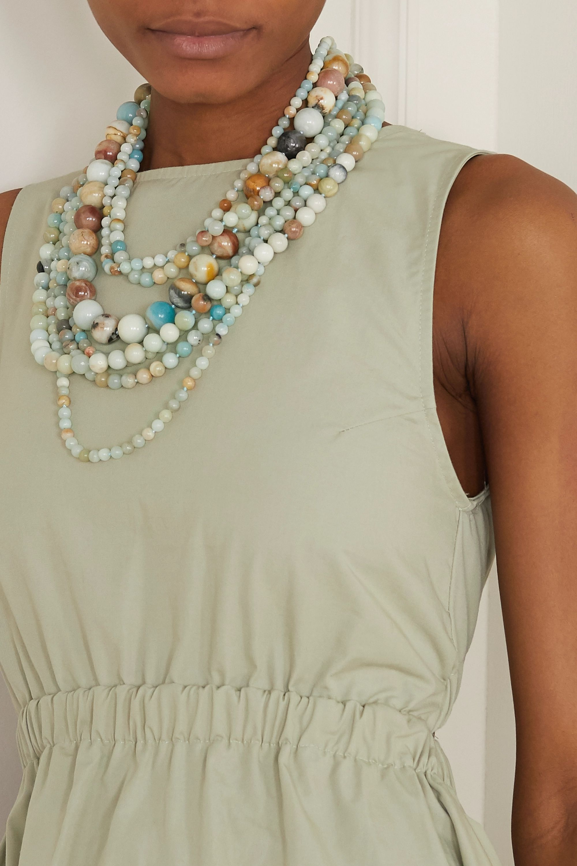 Kenneth Jay Lane Gold-tone and bead necklace