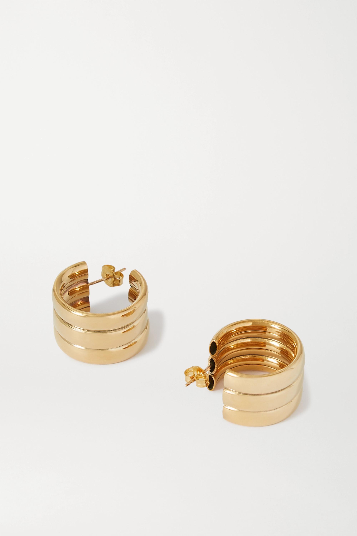 Laura Lombardi Mini Grazia gold-tone hoop earrings