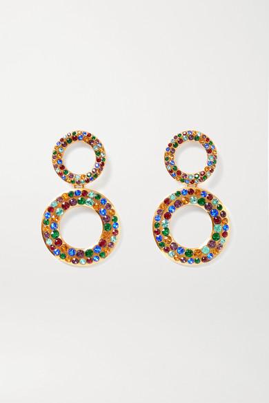 Rebecca De Ravenel Tosca gold-plated crystal earrings