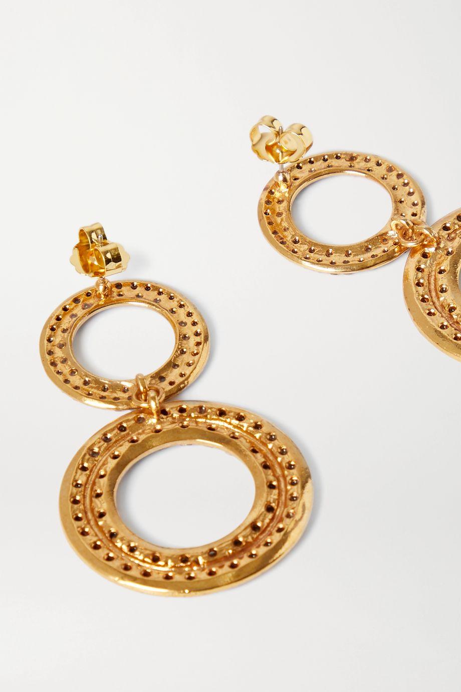 Rebecca de Ravenel Tosca vergoldete Ohrringe mit Kristallen