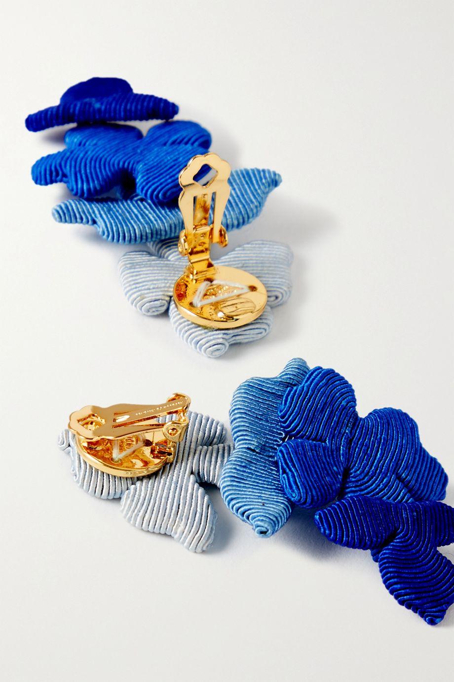 Rebecca de Ravenel Blossom cord clip earrings