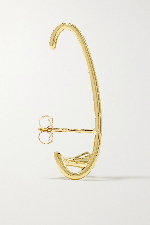 KATKIM Crescendo Flare 18-karat gold diamond earring