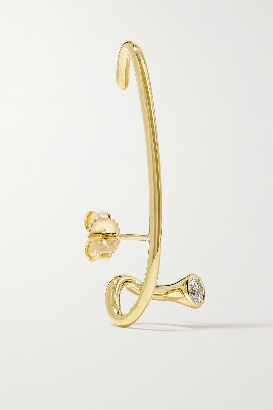 KATKIM Crescendo Flare Ohrring aus 18 Karat Gold mit Diamant