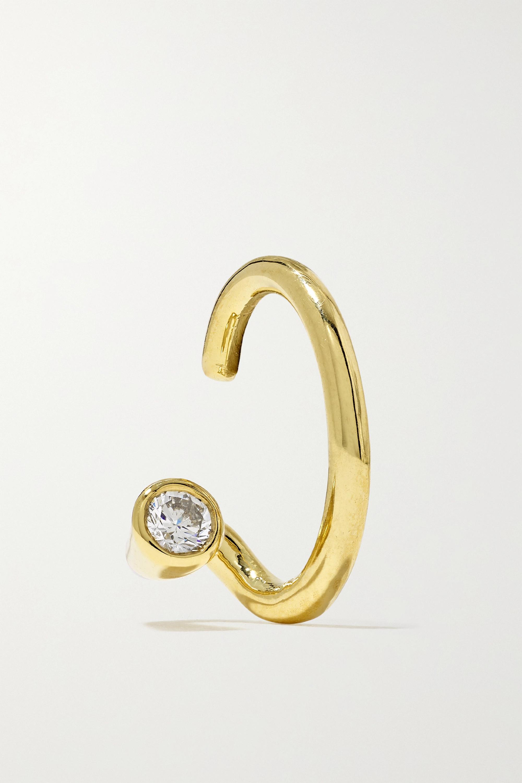 KATKIM Crescendo Flare Ear Cuff aus 18 Karat Gold mit Diamant