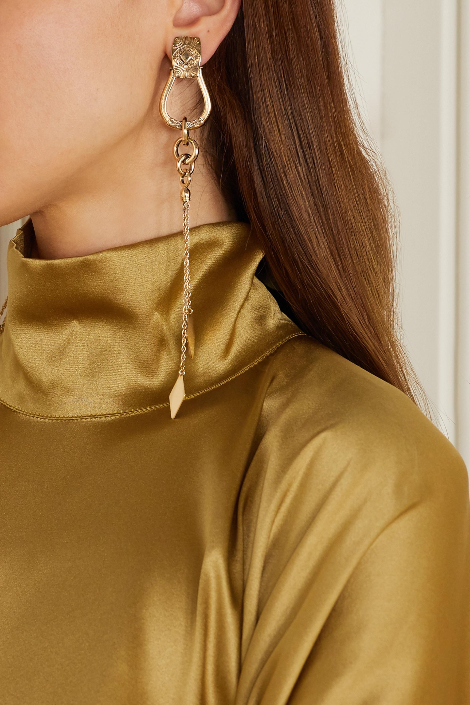 Etro Fringed gold-tone clip earrings
