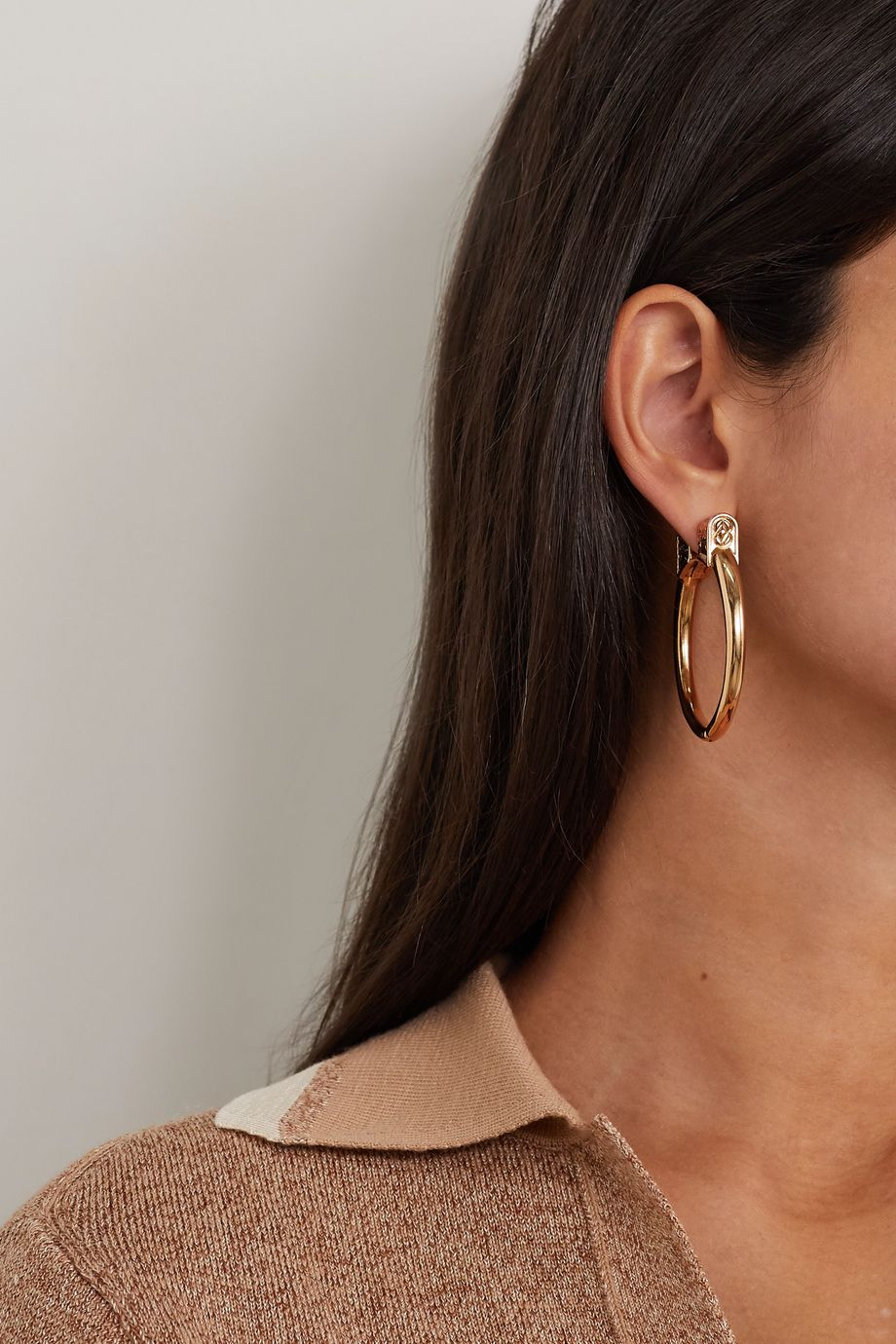 Etro Gold-tone hoop earrings