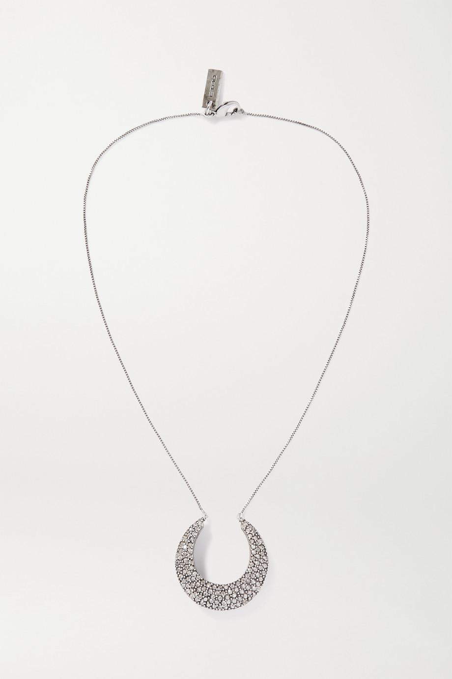 Etro Silver-tone crystal necklace