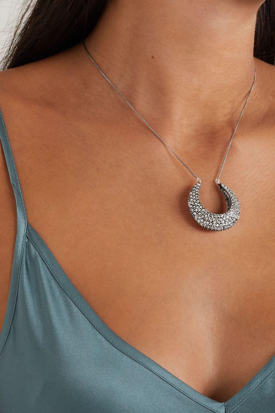 Etro 水晶银色项链