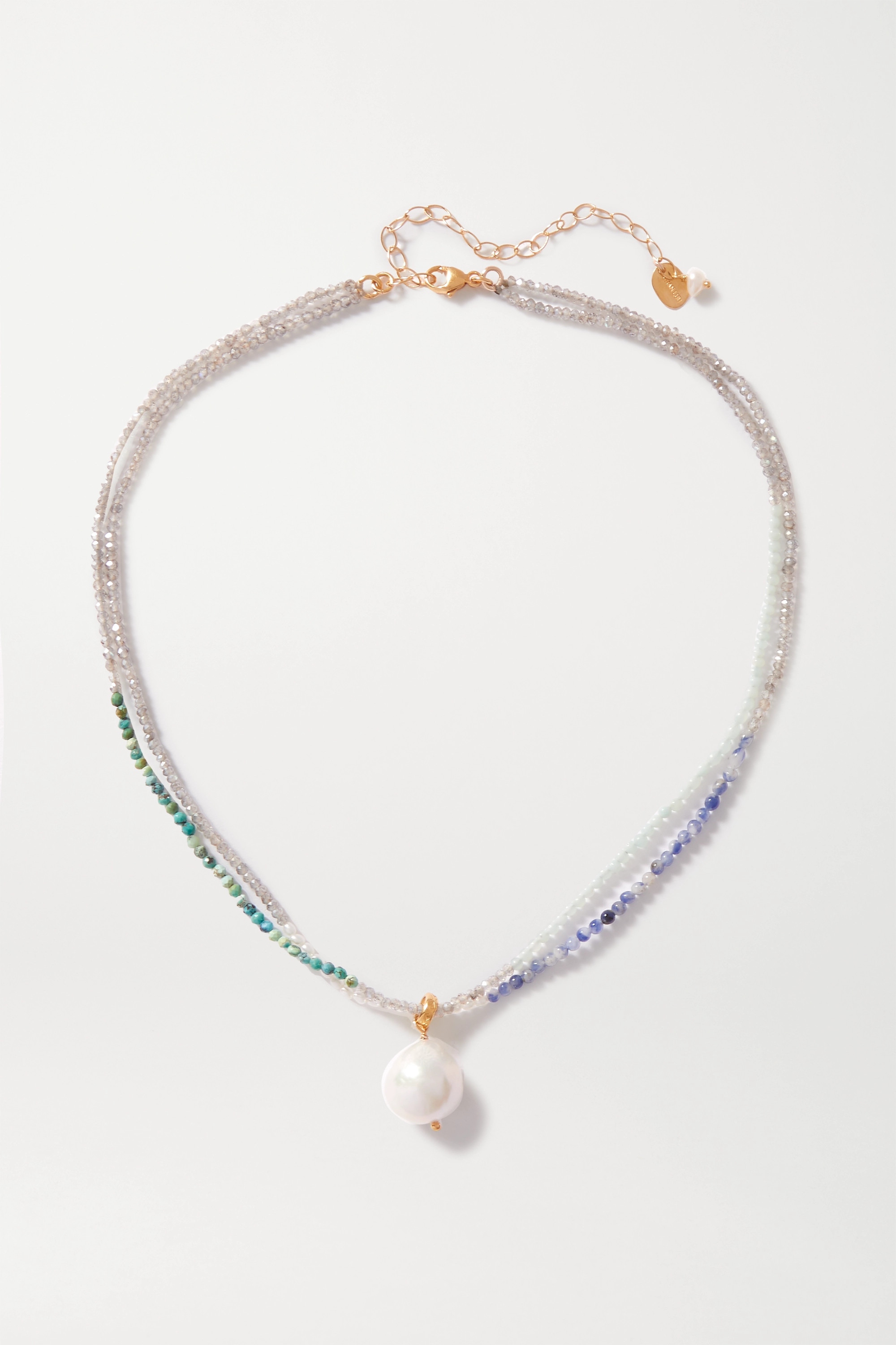 Chan Luu Gold-plated, pearl and bead necklace