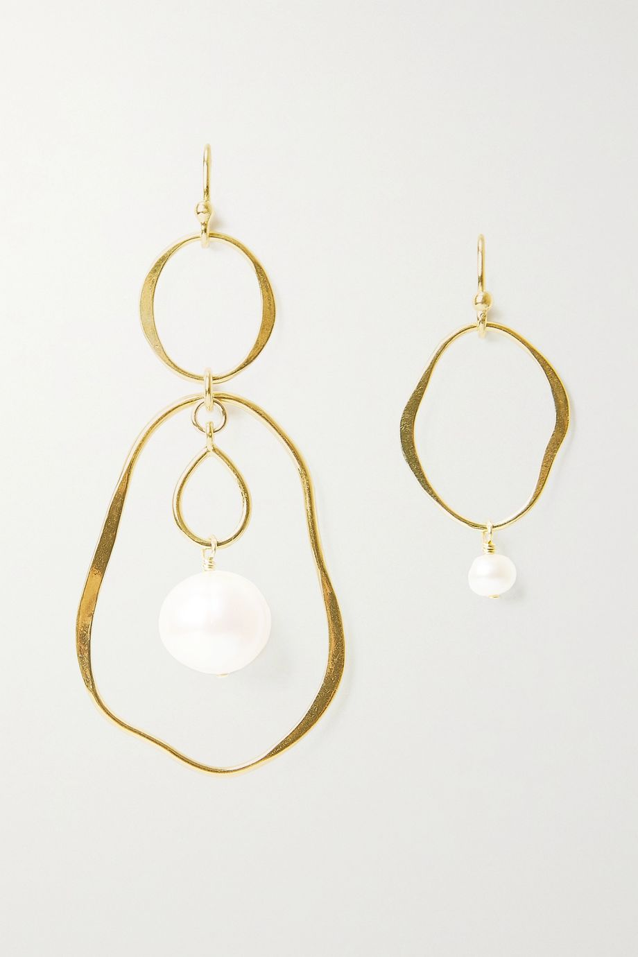 Chan Luu Gold-plated pearl earrings