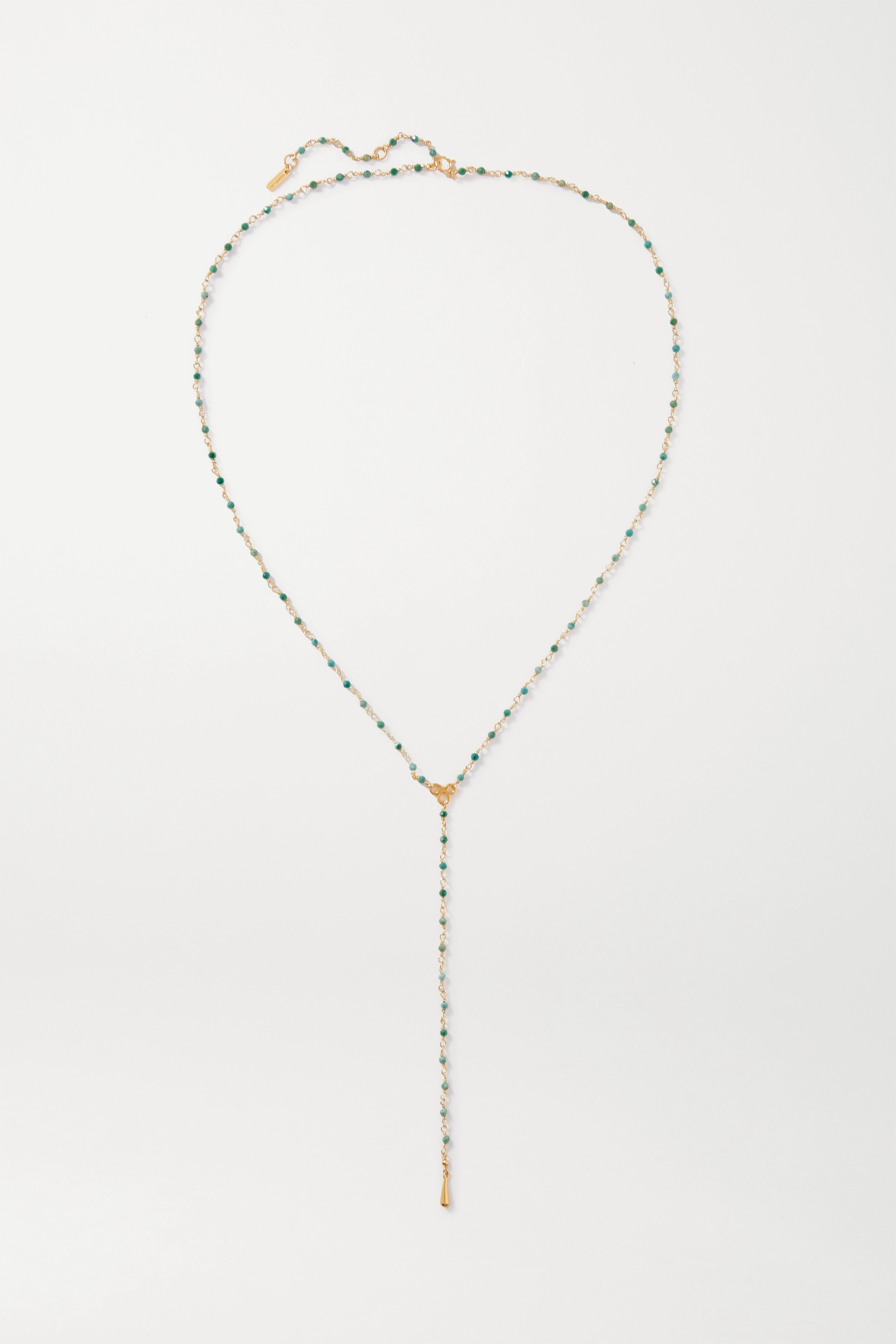 Chan Luu Gold-plated bead necklace