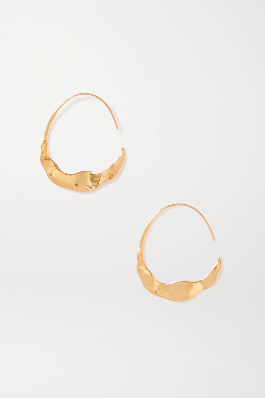 Chan Luu Crescent gold-plated hoop earrings