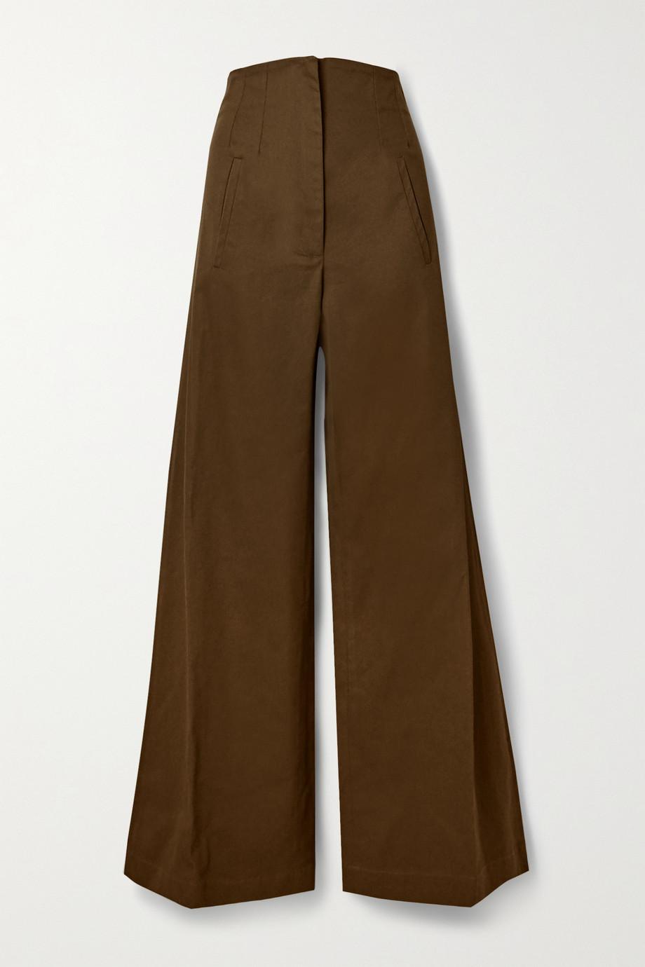 Anna Mason Beau Hose mit weitem Bein aus Baumwolldrillich